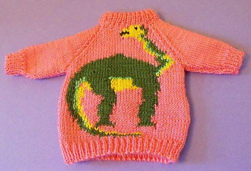 Brian The Brontosaurus Jumper Knitting Pattern