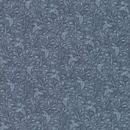 Moda Fabrics 3 Sisters Snowberry Midnight Floral Aviary Dark Blue