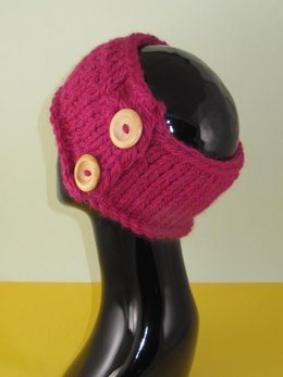 Simple Unisex Super Chunky 2 Button Headband