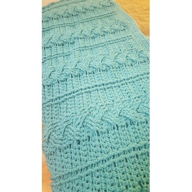 Crochet Cable Blanket