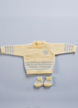 Babies Vest and Slippers in Bergere de France Merinos 2,5 - 60376-01 - Downloadable PDF