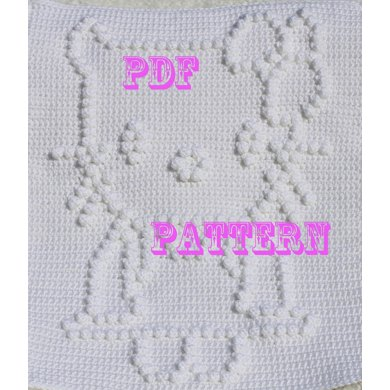 Hello Kitty Snuggle Baby Blanket Pattern Crochet Pattern By The Baby
