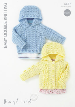 Hooded Sweater and Jacket in Hayfield Baby DK - 4417 - Downloadable PDF