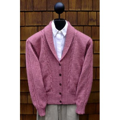 MS 191 Women's Cabled Shawl Collar
