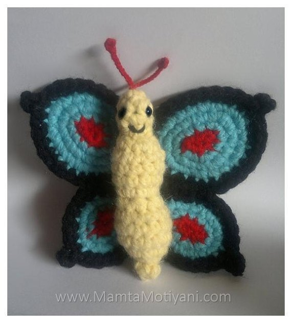 Swallowtail Butterfly Funky Amigurumi Toy Crochet pattern by Mamta Motiyani ...