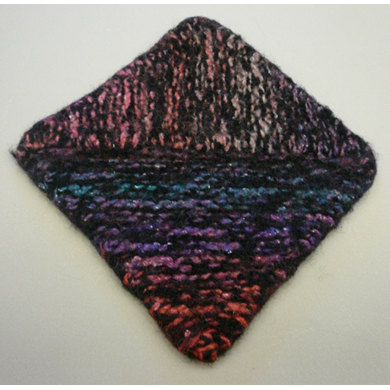 Multidirectional Diagonal Dishcloth in Plymouth Boku and Galway Worsted - F320