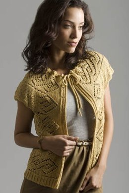 Lace Doily Cocoon Vest in Tahki Yarns Cotton Classic