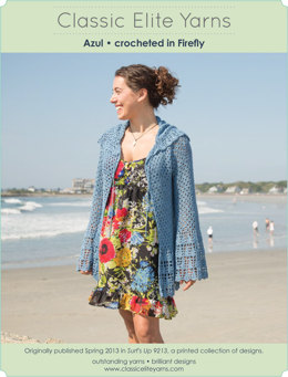 Azul Cardigan in Classic Elite Yarns Firefly - Downloadable PDF