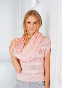 Top and Snood in Rico Essentials Cotton DK - 439 - Leaflet