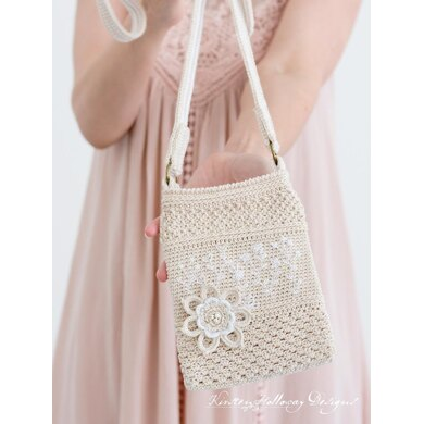 Embroidered Crochet Phone Purse