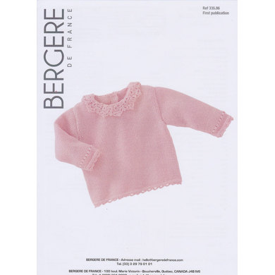 Sweater with Lacy Collar in Bergere de France Ideal - 33586