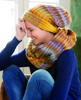 Womens Hat and Neckwarmer in Katia Azteca - 11