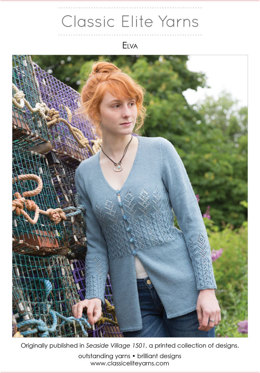 Elva Cardigan in Classic Elite Yarns Liberty Wool Light - Downloadable PDF