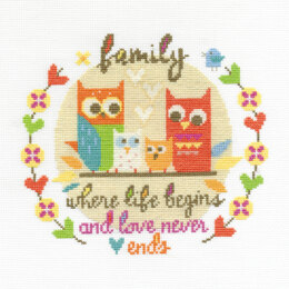 DMC Family 14 Count Cross Stitch Kit - 27.8cm x 18cm