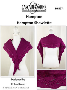Hampton Shawlette in Cascade Hampton - DK427 - Downloadable PDF