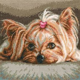 RTO Yorkshire Terrier Pet Cross Stitch Kit - 18cm x 18cm