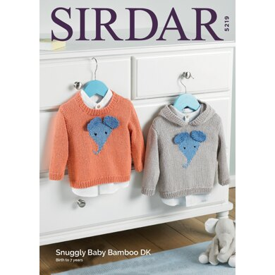 Sweaters in Sirdar Snuggly Baby Bamboo DK  - 5219 - Downloadable PDF