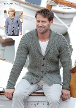 Cardigans in Hayfield Bonus Aran - 9552 - Downloadable PDF
