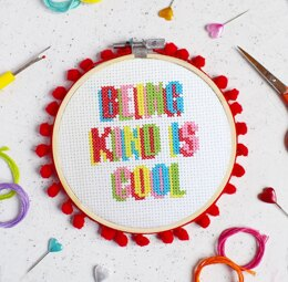 The Make Arcade Midi Cross Stitch - Being Kind is Cool
