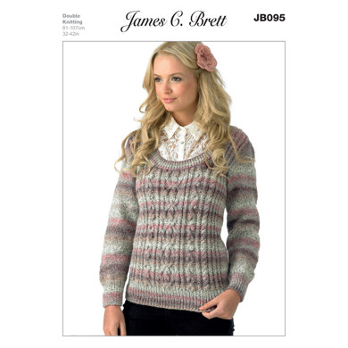 Sweater in James C. Brett Marble DK - JB095
