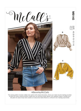 McCall's BeverleyMcCalls - Misses' Tops M8145 - Sewing Pattern