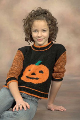Pumpkin Sweater in Plymouth Encore Worsted - F466