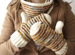 Autumn Mittens and Cowl