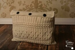 Braided Cable Block Rectangle Pillow