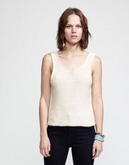 Tala Tank Top in Wool and the Gang Shiny Happy Cotton