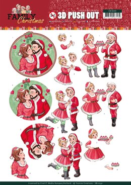 Find It Trading Yvonne Creations Punchout Sheet - Loving Christmas, Family Christmas