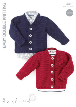 Crochet Cardigans in Hayfield Baby DK - 4410 - Downloadable PDF