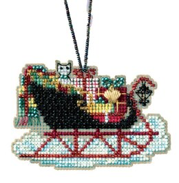 Mill Hill Vintage Sleigh Ornament Cross Stitch Kit