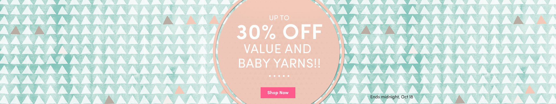LC Marketing 30% off baby & value yarns NA Oct 17
