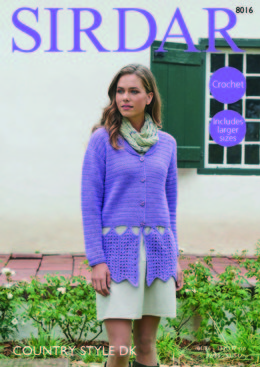 Jacket in Sirdar Country Style DK- 8016 - Downloadable PDF