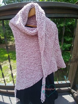 Easy Beginner Knit Shawl - Soft as Velvet