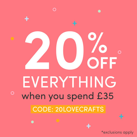 20 percent off everything full priced when you spend £35! Code: 20LOVECRAFTS