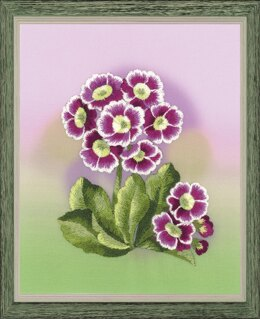Riolis Primrose Satin Stitch Embroidery Kit - 13cm x 16cm