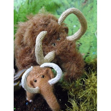 Wilma and Willy Woolly Mammoths Toy Knitting Pattern