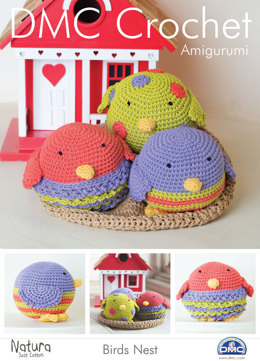 Amigurumi Birds Nest in DMC Natura Just Cotton and Soft Cotton - 15097L/2 - Downloadable PDF