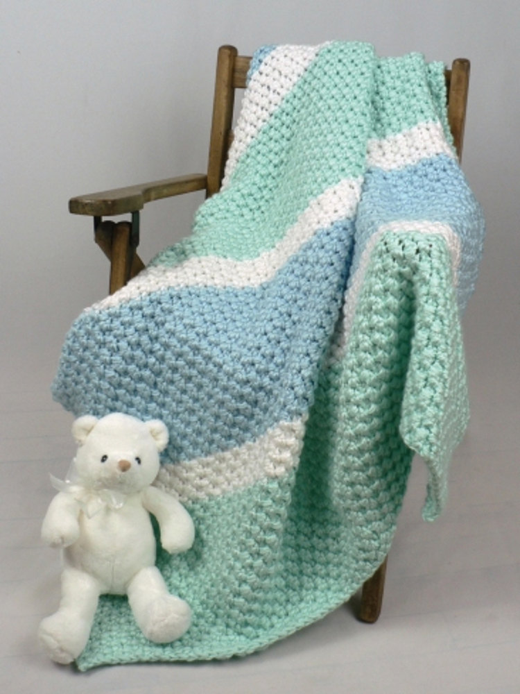 Soften His World Baby Blanket In Caron Simply Soft
