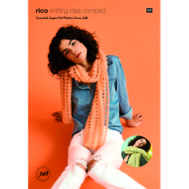 Crochet Shawls in Rico Essentials Super Kid Mohair Loves Silk - 548 - Leaflet