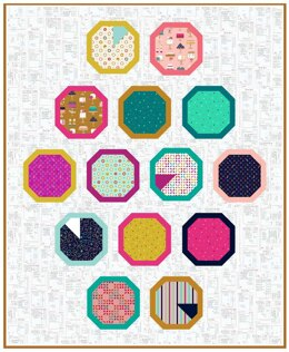 Michael Miller Fabrics Slice of the Pie Quilt - Downloadable PDF