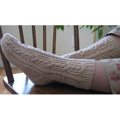 Ribbed Rope Socks