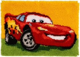Vervaco Disney Lightning McQueen Latch Hook Rug Kit