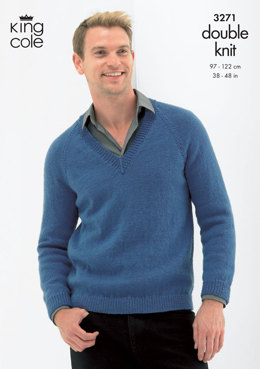 Sweater and Cardigan in King Cole Merino DK - 3271
