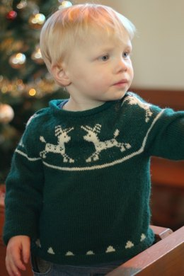 Junior Christmas Jumper in Susan Crawford Excelana 4 Ply