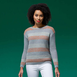 Mae Pop Stripe Jumper in West Yorkshire Spinners ColourLab - DBP0151 - Downloadable PDF