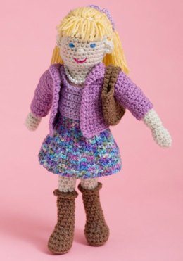 Lovely Lucy Doll in Red Heart Super Saver Economy Solids - LW2705
