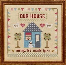 Historical Sampler Company Memories Made Here Cross Stitch Kit - 23cm x 23cm