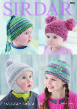 Hats in Sirdar Snuggly Rascal DK - 4806 - Downloadable PDF